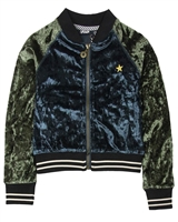 Dress Like Flo Crushed Velvet Bomber Jacket