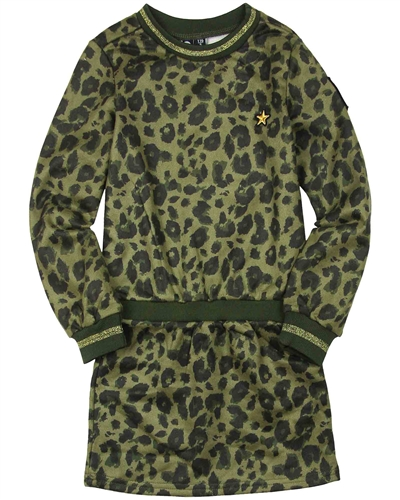 Dress Like Flo Sweatshirt Dress in Animal Print