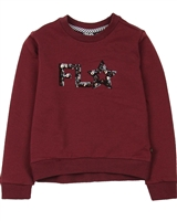 Dress Like Flo Logo Sweatshirt in Bordeaux