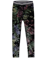 Dress Like Flo Velour Leggings in Floral Print