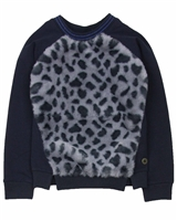 Dress Like Flo Sweatshirt with Fake Fur Front