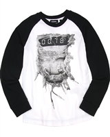 Diesel Boys Raglan Sleeves T-shirt Tapis White
