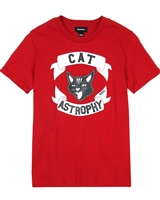 Diesel Boys T-shirt with Cat Tisco Red