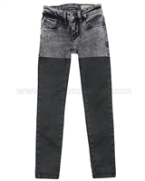 Diesel Girls Two-tone Denim Pants Skinzee