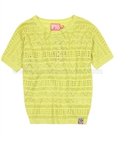 Dress Like Flo Crochet Top Suzy Yellow