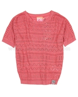 Dress Like Flo Crochet Top Suzy Red