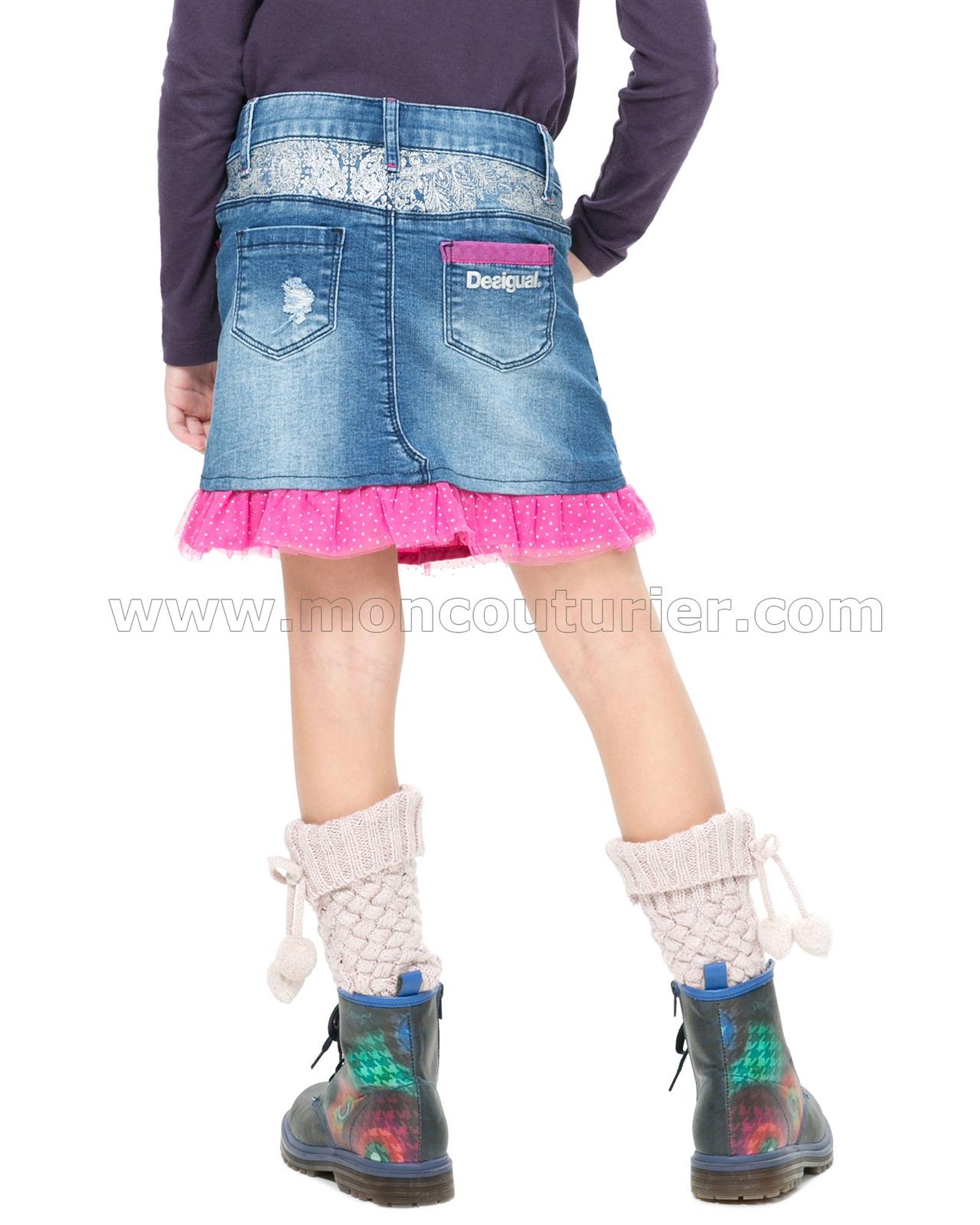 b413352d0 DESIGUAL Girls' Denim Skirt Gargalla, Sizes 5-14