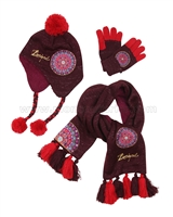 Desigual Hat, Scarf and Gloves Set