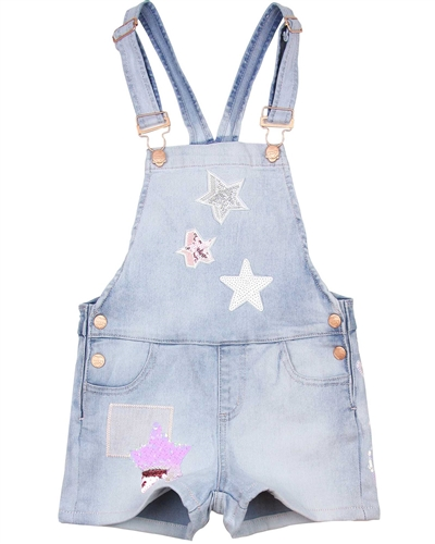 Desigual Denim Suspenders Shorts Vidal