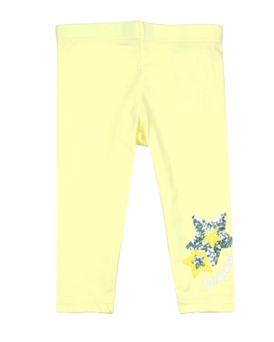 Desigual Leggings Floral in Yellow