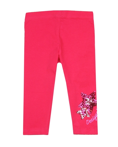 Desigual Leggings Floral in Fuchsia