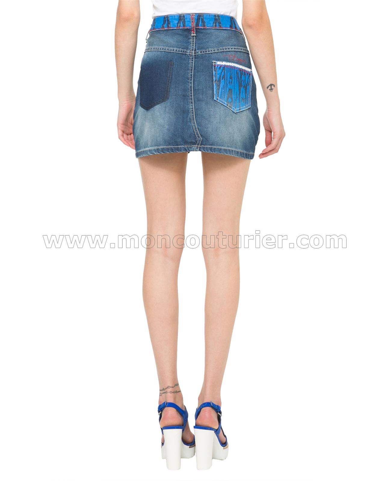a7ffa19fa9 Desigual by Lacroix Womens' Denim Skirt Ethnic Mini - Desigual ...