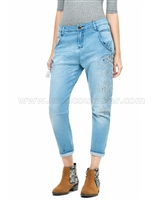 Desigual Womens' Denim Pants Silvi
