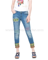 Desigual Denim Pants Ethnic Ankle