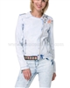 Desigual Womens' Jean Jacket Beach