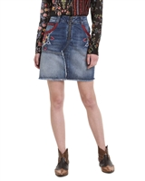 Desigual Women's Denim Skirt Zita