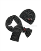 Eliane et Lena Hat Chipette and Scarf Ciboulette Black