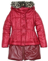 Eliane et Lena Coat Marylin Red