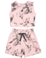 Gloss Junior Girls Terry Top and Shorts Set