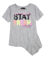 Gloss Junior Girls Asymmetrical T-shirt