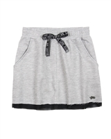 Gloss Junior Girls Terry Skirt in Grey