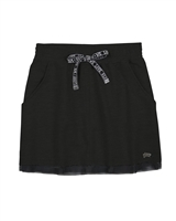 Gloss Junior Girls Terry Skirt in Black