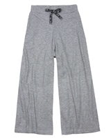 Gloss Junior Girls Rib Jersey Wide Pants in Grey