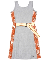 Gloss Junior Girl's Jersey Dress with Belt in Grey