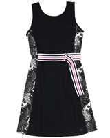 Gloss Junior Girl's Jersey Dress with Belt in Black