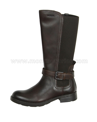05eb48656a62 GEOX Girls Tall Boot Jr Sofia Brown