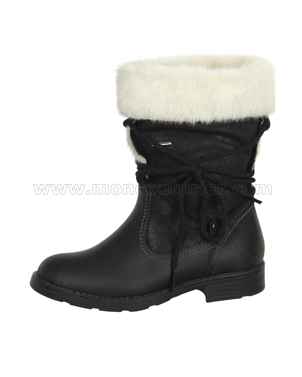 65033f64 GEOX Girls' Short Boots with Fur Jr Sofia, Sizes 28-36