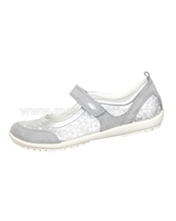 GEOX Girls' Mary-Jane Jr Vega Silver
