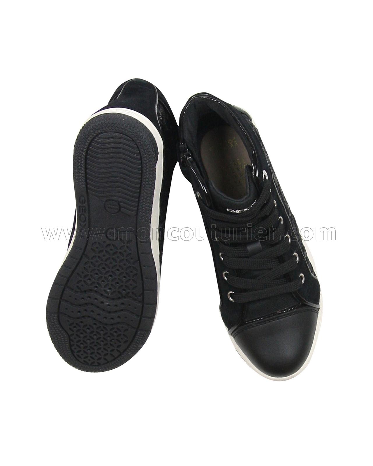 e488ede5b5 GEOX Girls' Hi-top Sneakers Jr Creamy Black