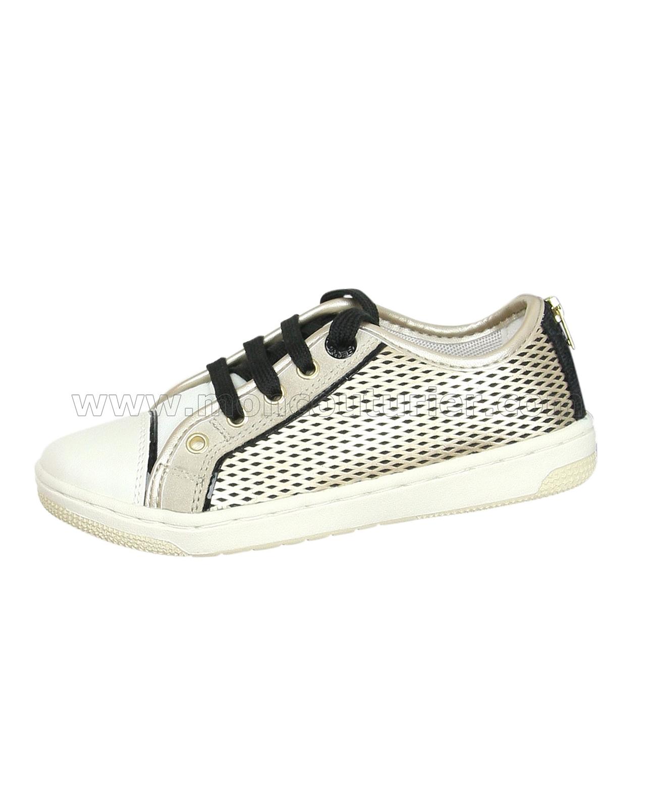a705b510e2 GEOX Girls' Sneakers Jr Creamy Gold