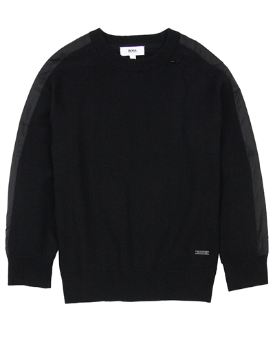 BOSS Boys Pullover with Side Stripes