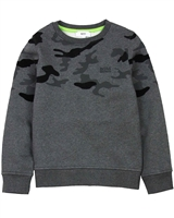 BOSS Boys Sweatshirt with Camo Print