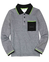 BOSS Boys Polo with Chest Pocket