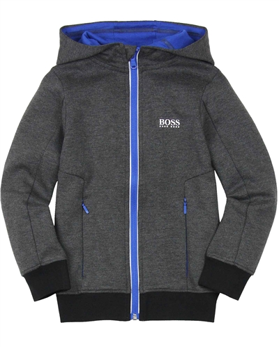 BOSS Boys Zip-up Hooded Sweatshirt