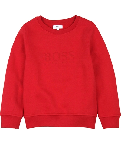 BOSS Boys Embroidered Logo Sweatshirt