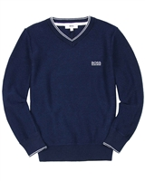 BOSS Boys Basic V-neck Pullover