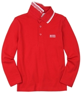 BOSS Boys Basic Polo Red
