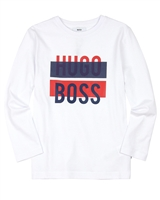 BOSS Boys T-shirt with Logo Print White