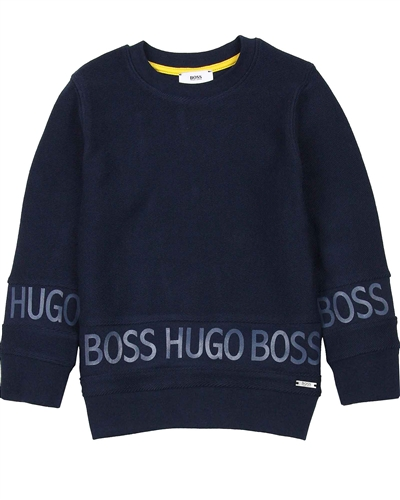BOSS Boys Sweatshirt with Logo Print Around