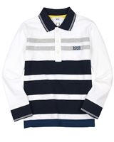 BOSS Boys Multi Striped Polo