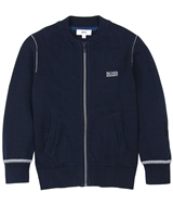 BOSS Boys Zip Front Knit Cardigan