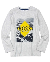 BOSS Boys T-shirt with Mountains Print