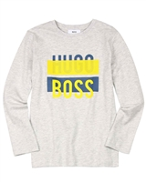 BOSS Boys T-shirt with Logo Print Gray
