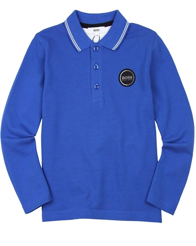 BOSS Boys Polo with Logo Badge