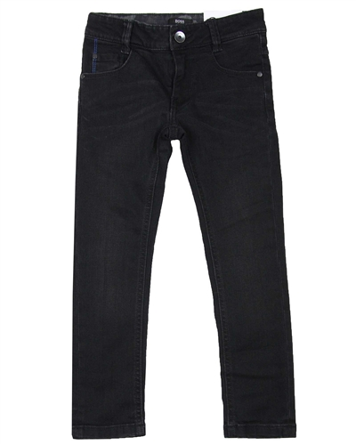 BOSS Boys Basic Denim Pants Black