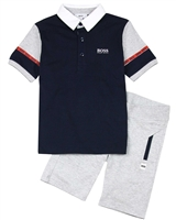 BOSS Boys Polo and Bermuda Shorts Set